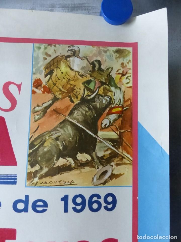 Carteles Toros: VILLENA, ALICANTE - CARTEL DE TOROS - AÑO 1969, SAAVEDRA - Foto 6 - 172640634