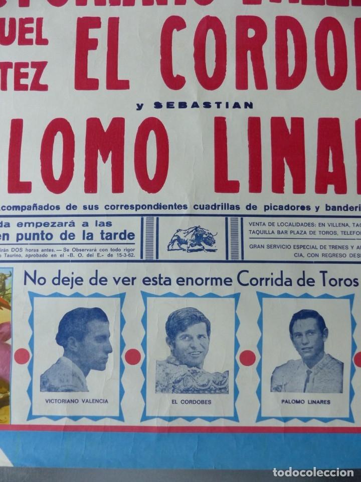 Carteles Toros: VILLENA, ALICANTE - CARTEL DE TOROS - AÑO 1969, SAAVEDRA - Foto 7 - 172640634