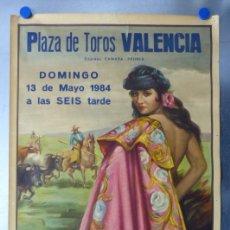 Carteles Toros: VALENCIA - CARTEL DE TOROS - LITOGRAFIA - AÑO 1984, CROS ESTREMS. Lote 172641322