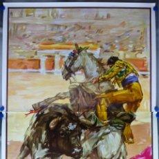Carteles Toros: CARTEL GRANDE TOROS - SIN IMPRIMIR - REJONEADOR - AÑO 1987 - J. REUS - 158X111 CM.. Lote 172680173