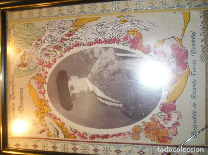 CARTEL PLAZA DE TOROS DE MADRID 1913 CORRIDA DESPEDIDA DE BOMBITA. GALLO, GALLITO Y BELMONTE 40X60 (Coleccionismo - Carteles Gran Formato - Carteles Toros)