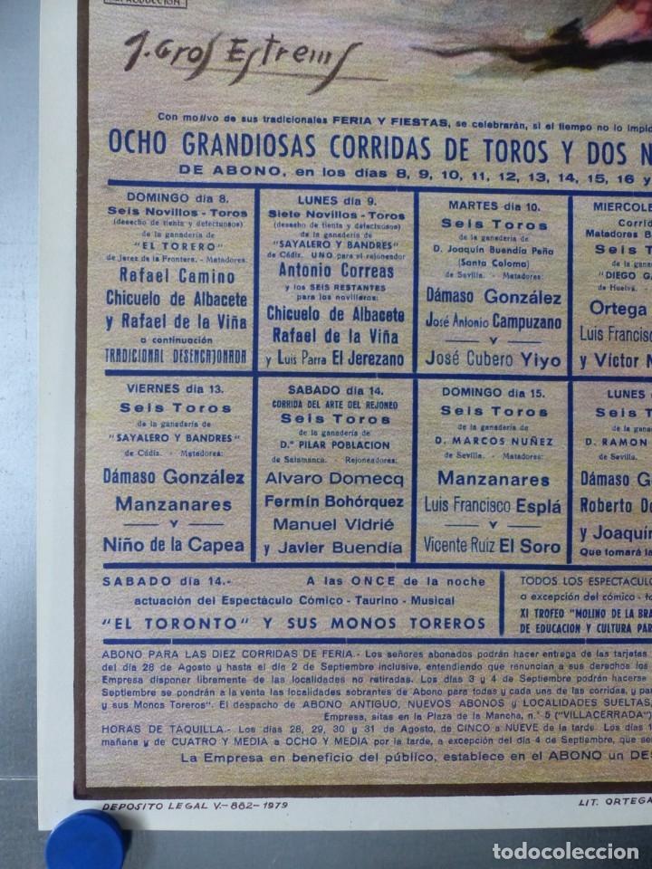 Carteles Toros: CARTEL TOROS ALBACETE - FERIA SEPTIEMBRE 1985 - CROS ESTREMS, LITOGRAFIA, EL SORO, YIYO, ESPLA - Foto 2 - 173116859
