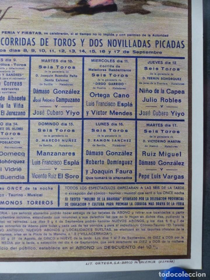 Carteles Toros: CARTEL TOROS ALBACETE - FERIA SEPTIEMBRE 1985 - CROS ESTREMS, LITOGRAFIA, EL SORO, YIYO, ESPLA - Foto 3 - 173116859