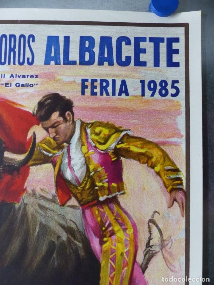Carteles Toros: CARTEL TOROS ALBACETE - FERIA SEPTIEMBRE 1985 - CROS ESTREMS, LITOGRAFIA, EL SORO, YIYO, ESPLA - Foto 4 - 173116859