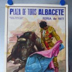 Carteles Toros: CARTEL TOROS ALBACETE - FERIA SEPTIEMBRE 1977 - CROS ESTREMS, LITOGRAFIA, PAQUIRRI, MANZANARES, VITI. Lote 173117043