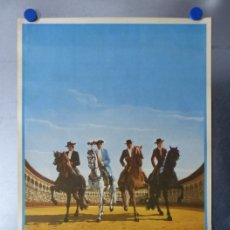 Carteles Toros: CARTEL TOROS AÑOVER DE TAJO, TOLEDO - REJONEADORES ANGEL Y RAFAEL PERALTA - AÑO 1972. Lote 173199322