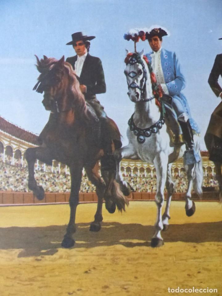 Carteles Toros: CARTEL TOROS AÑOVER DE TAJO, TOLEDO - REJONEADORES ANGEL Y RAFAEL PERALTA - AÑO 1972 - Foto 3 - 173199322