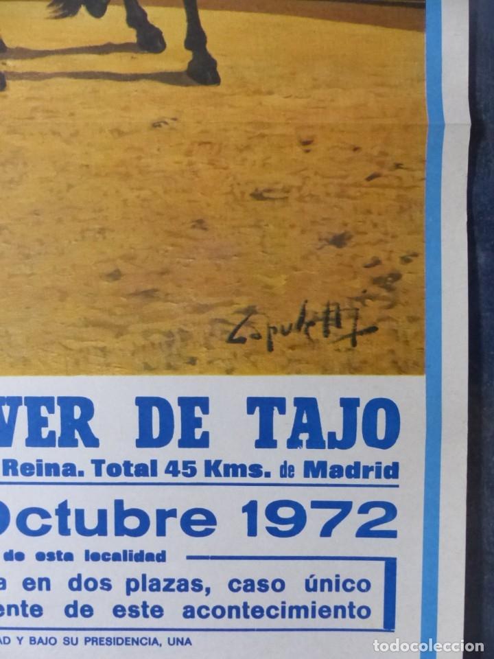 Carteles Toros: CARTEL TOROS AÑOVER DE TAJO, TOLEDO - REJONEADORES ANGEL Y RAFAEL PERALTA - AÑO 1972 - Foto 7 - 173199322
