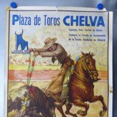 Carteles Toros: CARTEL TOROS CHELVA, VALENCIA - ANTONIO I. VARGAS, JUAN RIVERA, JUAN CARLOS VERA - AÑO 1989. Lote 173265097