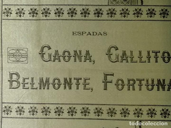 Carteles Toros: Cartel de Beneficencia. Gallito y Juan Belmonte. 1917. Madrid - Foto 8 - 173842692