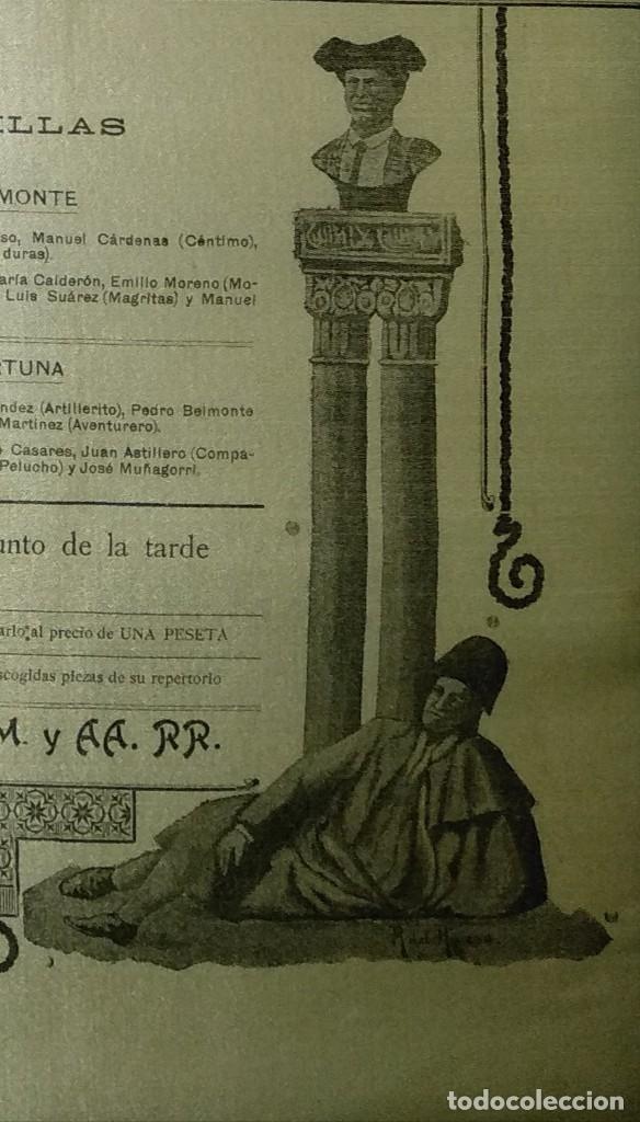 Carteles Toros: Cartel de Beneficencia. Gallito y Juan Belmonte. 1917. Madrid - Foto 9 - 173842692
