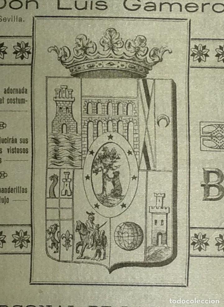 Carteles Toros: Cartel de Beneficencia. Gallito y Juan Belmonte. 1917. Madrid - Foto 10 - 173842692