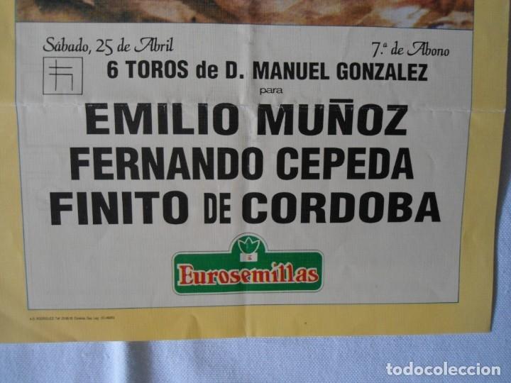 Carteles Toros: CARTEL PUBLICITARIO DE TOROS EN SEVILLA FERIA ABRIL 1992 - Foto 2 - 173846308