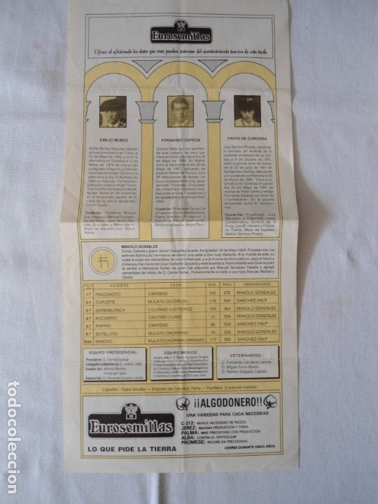 Carteles Toros: CARTEL PUBLICITARIO DE TOROS EN SEVILLA FERIA ABRIL 1992 - Foto 4 - 173846308