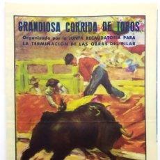Carteles Toros: CARTEL MANO TOROS ZARAGOZA 1951. Lote 173852242