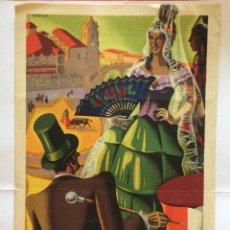 Carteles Toros: CARTEL DE TOROS BILBAO 1940 -ILUSTRADO POR MARTÍNEZ ORTÍZ. Lote 174585874