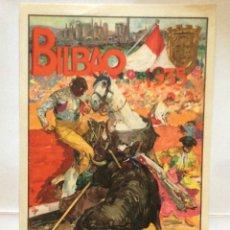 Carteles Toros: CARTEL DE TOROS , BILBAO 1935 ILUSTRADOR ROBERTO DOMINGO, . Lote 174586434