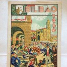 Carteles Toros: ALBERTO ARRUE ,CARTEL CORRIDAS GENERALES BILBAO. AÑO 1930 ILUSTRADO POR A. ARRUE . Lote 174586873