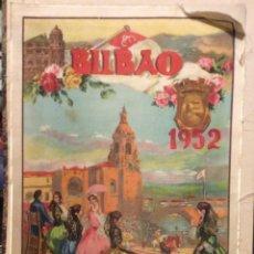 Carteles Toros: CARTEL DE TOROS , BILBAO 1952 ,REALIZADO EN SEDA ILUSTRADORI. REUS,. Lote 174687524