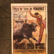 Carteles Toros: TAUROMAQUIA. CARTEL PLAZA DE TOROS DE VINAROZ. FANTÁSTICA CORRIDA DE TOROS (A.1978).. Lote 174988257