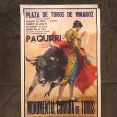 Carteles Toros: TAUROMAQUIA. CARTEL PLAZA DE TOROS DE VINAROZ. MONUMENTAL CORRIDA DE TOROS (H.1978?). Lote 174988458