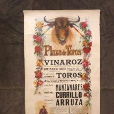 Carteles Toros: TAUROMAQUIA. CARTEL PLAZA DE TOROS DE VINAROZ. MONUMENTAL CORRIDA DE TOROS (A.1975). Lote 174988927
