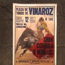 Carteles Toros: TAUROMAQUIA. CARTEL PLAZA DE TOROS DE VINAROZ. MONUMENTAL CORRIDA DE NOVILLOS (H.1980?). Lote 174989429