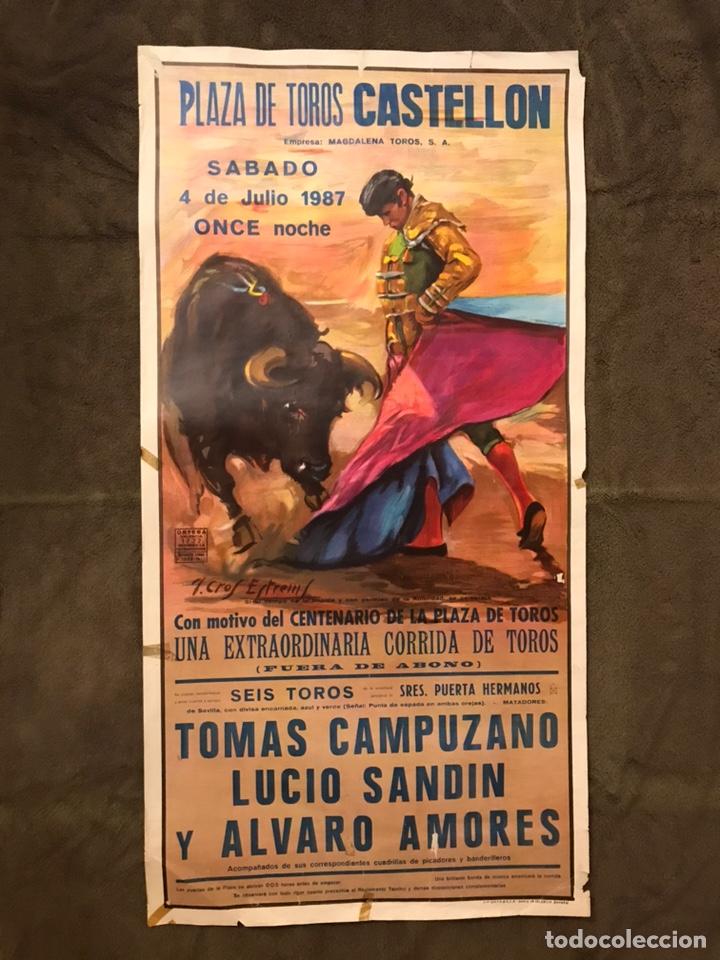 TAUROMAQUIA. CARTEL PLAZA DE TOROS DE VINAROZ. UNA EXTRAORDINARIA CORRIDA DE TOROS (A.1987). (Coleccionismo - Carteles Gran Formato - Carteles Toros)