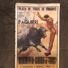 Carteles Toros: TAUROMAQUIA. CARTEL PLAZA DE TOROS DE VINAROZ. UNA EXTRAORDINARIA CORRIDA DE TOROS (H.1978?). Lote 174992122