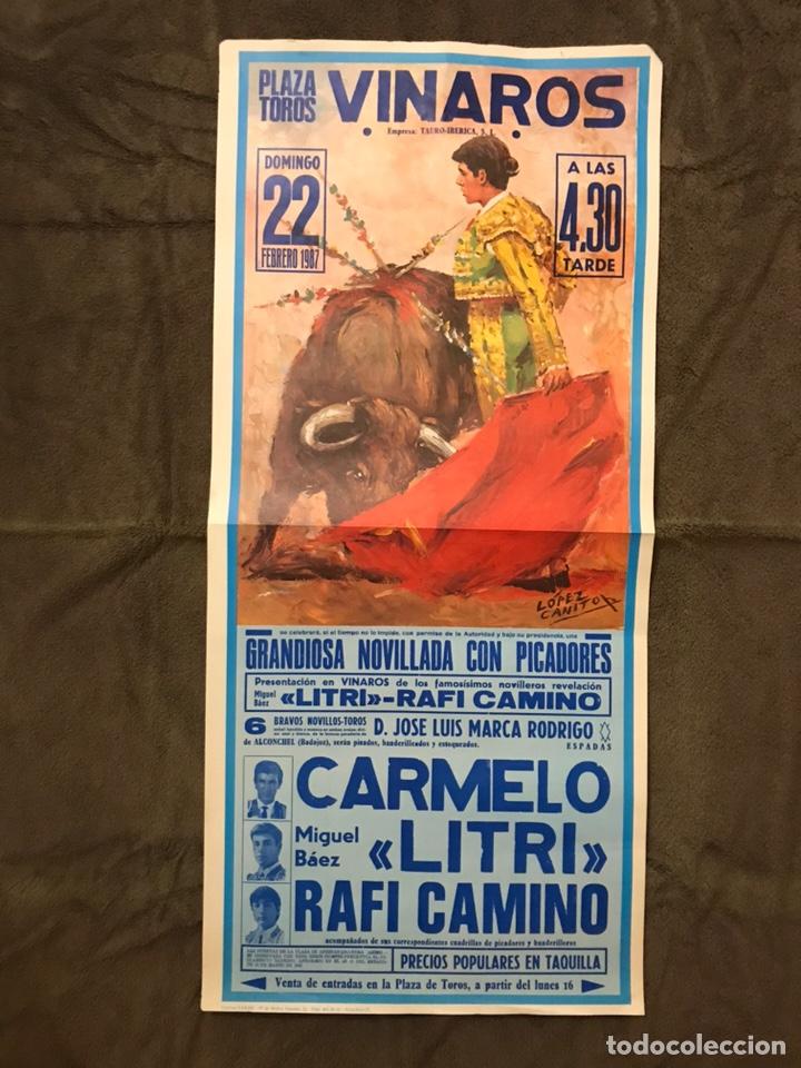 TAUROMAQUIA. CARTEL PLAZA DE TOROS DE VINAROZ. UNA EXTRAORDINARIA CORRIDA DE TOROS (H.1978?) (Coleccionismo - Carteles Gran Formato - Carteles Toros)