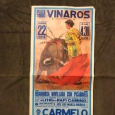 Carteles Toros: TAUROMAQUIA. CARTEL PLAZA DE TOROS DE VINAROZ. UNA EXTRAORDINARIA CORRIDA DE TOROS (H.1978?). Lote 175042657