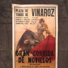 Carteles Toros: TAUROMAQUIA. CARTEL PLAZA DE TOROS DE VINAROZ. GRAN CORRIDA DE NOVILLOS, (H.1980?). Lote 175045754