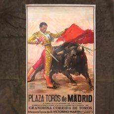 Carteles Toros: MADRID. TAUROMAQUIA. CARTEL PLAZA DE TOROS DE MADRID, GRANDIOSA CORRIDA DE TOROS (A.1985),. Lote 175046653