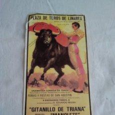 Carteles Toros: 7-CARTEL TAURINO NO ORIGINAL LINARES MANOLETE. Lote 175109023