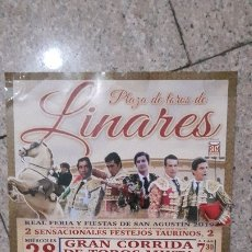 Carteles Toros: CARTEL TOROS LINARES FERIA 2019. Lote 175144959
