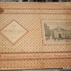 Carteles Toros: ESPECTÁCULAR CARTEL ABONO DE PLAZA DE TOROS DE MADRID DE 1897.. Lote 175251678