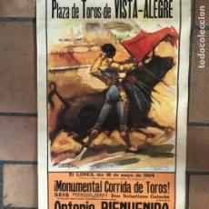 Carteles Toros: CARTEL PLAZA DE TOROS VISTA- ALEGRE 1964. Lote 175685569