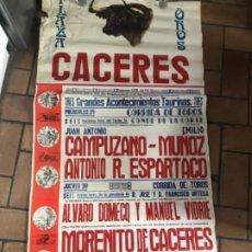 Carteles Toros: GRAN CARTEL DE TOROS CÁCERES. 1982. Lote 175777405