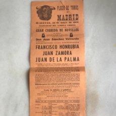 Carteles Toros: CARTEL DE TOROS PLAZA DE TOROS DE MADRID, 1954. Lote 175818609
