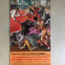 Carteles Toros: CARTEL DE TOROS PLAZA DE VISTA ALEGRE BILBAO 1987. Lote 175951873