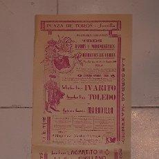 Carteles Toros: CARTEL TOROS INAGURACION PLAZA TOROS JUMILLA HISTÓRICO 16 AGOSTO 1930 JUMILLA - TAMAÑO; 59 X 22 CMS.. Lote 176327669