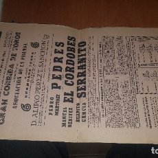 Cartazes Touros: CARTEL PLAZA TOROS MADRID, CORRIDA ASOCIACION PRENSA 1964, EL CORDOBES, P. PEDRES. Lote 176397204