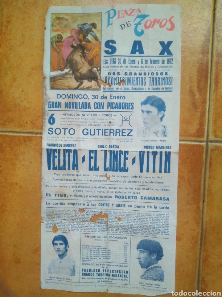 CARTEL TOROS 1972 VELITA- EL LINCE- (Coleccionismo - Carteles Gran Formato - Carteles Toros)