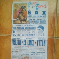 Carteles Toros: CARTEL TOROS 1972 VELITA- EL LINCE-. Lote 176439402