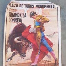 Carteles Toros: CARTEL TOROS - MONUMENTAL - PACO CAMINO - NIÑO CAPEA - PEPE RUIZ - TDKP. Lote 176458343