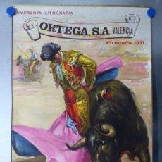 Carteles Toros: CARTEL DE TOROS - CALENDARIO DEL AÑO 1968 - LITOGRAFIA - ILUSTRADOR: CROS ESTREMS. Lote 176555729