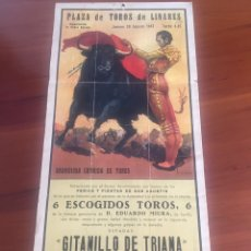 Carteles Toros: CARTEL CORRIDA DE TOROS MUERTE DE MANOLETE. Lote 176833425