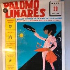 Carteles Toros: CARTEL TOROS PALOMO LINARES EN PLAZA VENTAS DE MADRID CON 12 TOROS. Lote 177090222