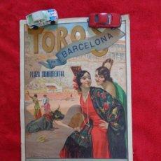 Carteles Toros: CARTEL TOROS - BARCELONA - MARZO DE 1931 - ALTERNATIVA DE DOMINGO ORTEGA - ILUSTR.: RUANO LLOPIS. Lote 177123477
