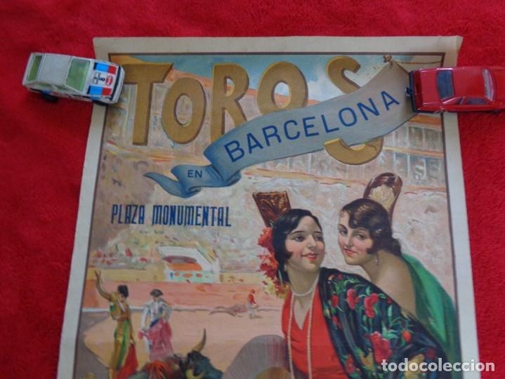 Carteles Toros: CARTEL TOROS - BARCELONA - MARZO DE 1931 - ALTERNATIVA DE DOMINGO ORTEGA - ILUSTR.: RUANO LLOPIS - Foto 2 - 177123477